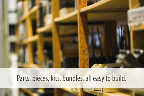 Parts, pieces, kits, bundles, all easy to build.