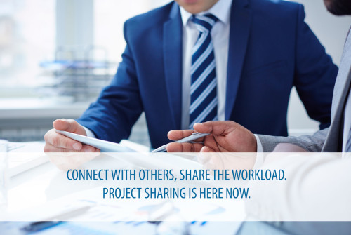 Project sharing is here now. Share your projects with other companies and contractors.